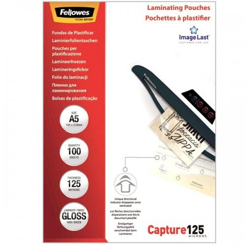 Плёнка для ламинирования Fellowes (Феллоуз) 154x216 мм 125 мкм трехслойная 100 шт./уп. FS-53073