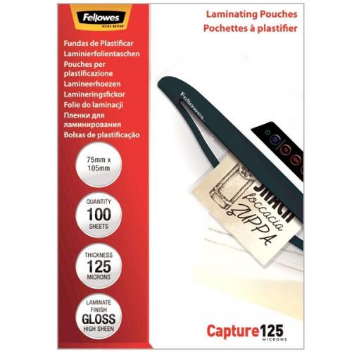 Плёнка для ламинирования Fellowes (Феллоуз) 75x105 мм 125 мкм трехслойная 100 шт./уп. FS-53069