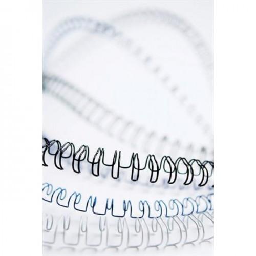 Пружины металлические для переплёта Fellowes (Феллоуз) 10 мм шаг 3:1 34 кольца белые 100 шт./уп. FS-53262