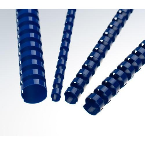 Пружины пластиковые для переплёта круглые  Fellowes (Феллоуз) 8 мм шаг 14.28 21 кольцо синяя 100 шт./уп. FS-53455
