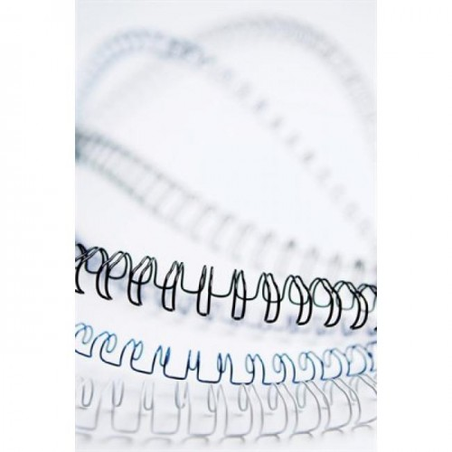 Пружины металлические для переплёта Fellowes (Феллоуз) 12,7 мм шаг 3:1 34 кольца белая 100 шт./уп. FS-53270