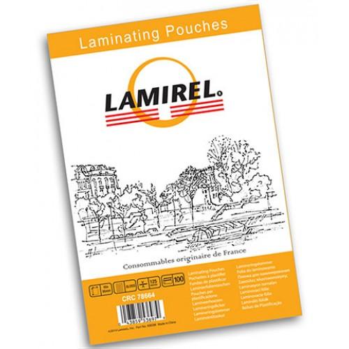 Плёнка для ламинирования Lamirel 75x105 мм 125 мкм 100 шт./уп. LA-7866301