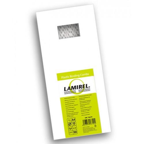 Пружина пластиковая для переплёта Fellowes (Феллоуз) Lamirel 10 мм белая 100 шт./уп. LA-7867002