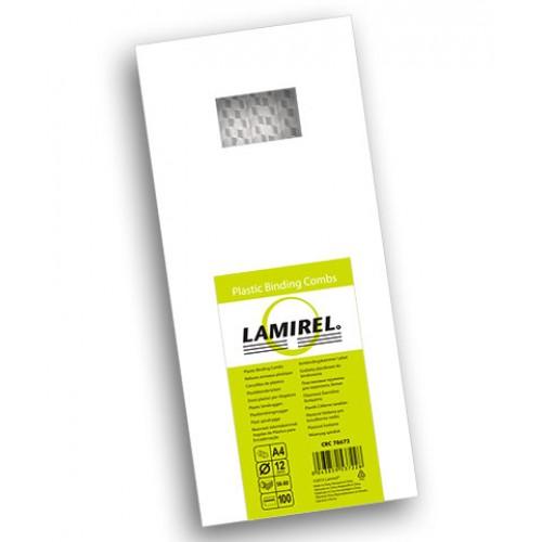 Пружина пластиковая для переплёта Fellowes (Феллоуз) Lamirel 12 мм белая 100 шт./уп. LA-7867201