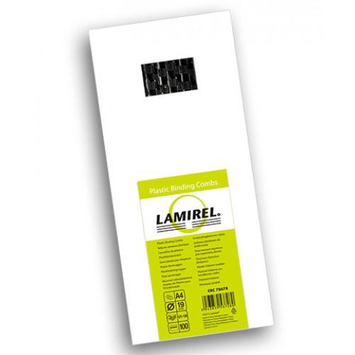 Пружина пластиковая для переплёта Fellowes (Феллоуз) Lamirel 19 мм черная 100 шт./уп. LA-7867901