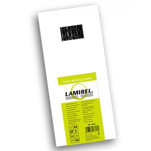 Пружина пластиковая для переплёта Fellowes (Феллоуз) Lamirel 6 мм черная 100 шт./уп. LA-7866702