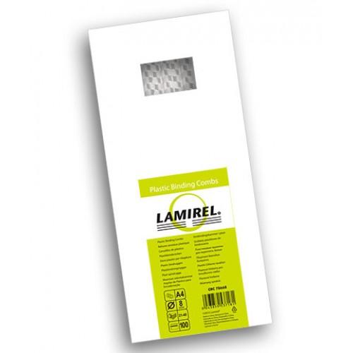 Пружина пластиковая для переплёта Fellowes (Феллоуз) Lamirel 8 мм белая 100 шт./уп. LA-7866802
