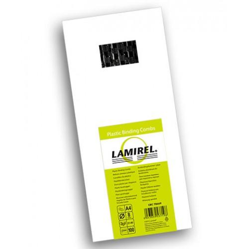 Пружина пластиковая для переплёта Fellowes (Феллоуз) Lamirel 8 мм черная 100 шт./уп. LA-7866902