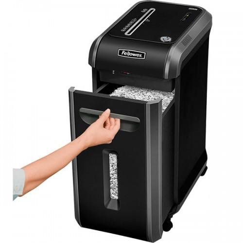 Уничтожитель бумаги (шредер) Fellowes (Феллоуз) MicroShred 99MS DIN P-5 2х14 мм 12 л. 34 лтр. SafeSense уничтожает: скобы, пластиковые карты FS-4609101