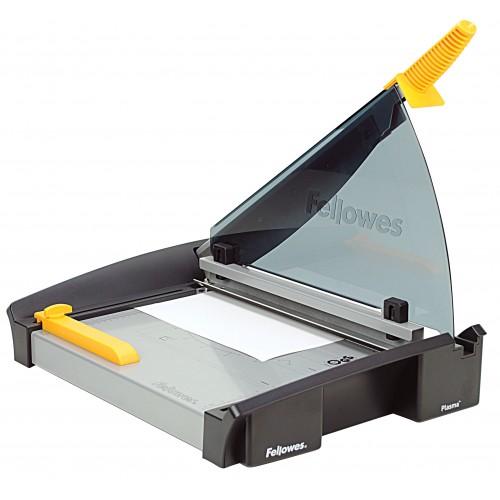 Резак сабельный для бумаги Fellowes (Феллоуз) Plasma A4, 40 л., пласт. защитный экран. (CRC 54110), FS-54110