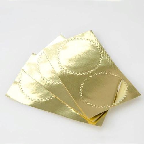 Лейблы для рельефной печати золото d=50мм, , упак