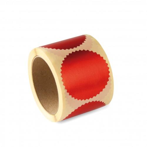 Лейбл для рельефной печати Colop, диаметр 55 мм, красный