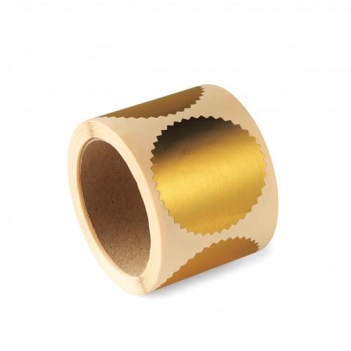Лейбл для рельефной печати Colop, диаметр 55 мм, золотой