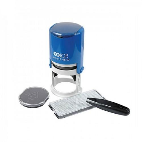 Печать автоматическая самонаборная Colop Printer R 45/2 SET, 2 круга, синяя