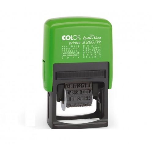 Штамп пластиковый с 12 бухгалтерскими терминами Colop Printer S 220/W Green Line