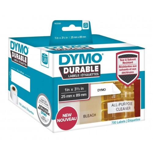 Этикетки адресные Dymo стойкие к разрыву и абразивам, 25х89мм с сильным клеем, температура до -150 град. 700 штук в рулоне