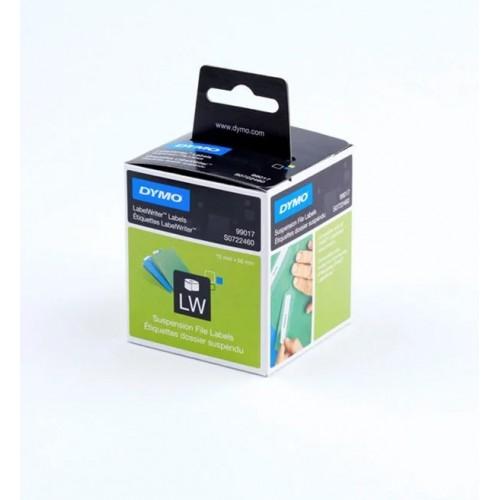 Этикетки бумажные Dymo для подвесных папок, 50х12мм, 220 штук в рулоне S0722460