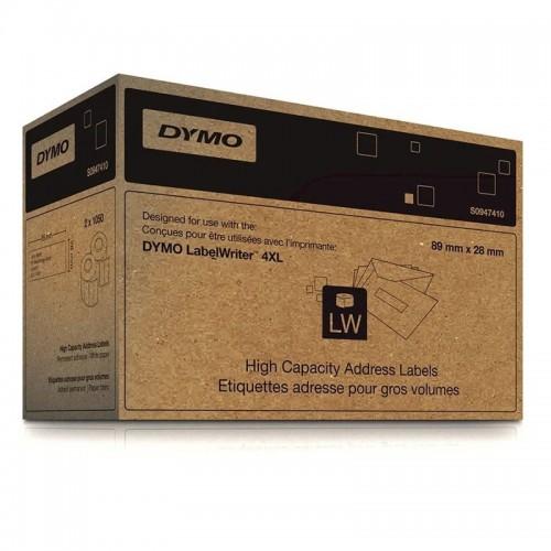 Этикетки адресные Dymo, только для LW4XL, 89x28мм, 1050 штук 2 рулона