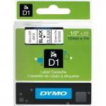 Картридж Dymo D1 с виниловой лентой, 12мм х 7м, пластик, черный на прозрачном S0720500