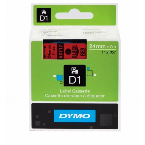 Картридж Dymo D1 с виниловой лентой, 24 мм х 7м, пластик, черный на красной ленте S0720970