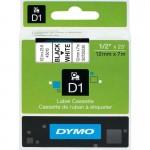 Картридж Dymo D1 с виниловой лентой, 12мм х 7м, пластик, черный на белой ленте S0720530