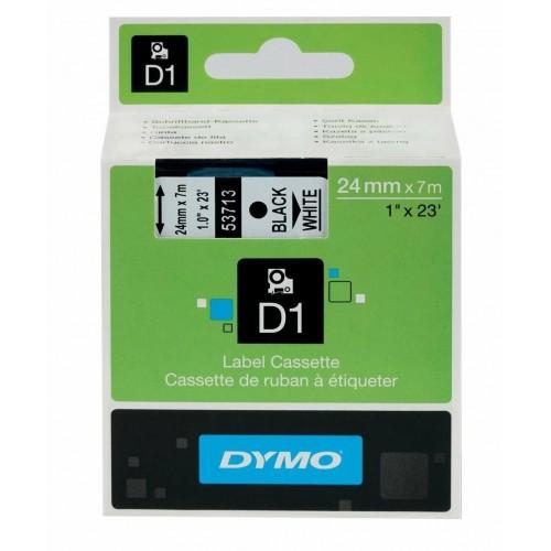 Картридж Dymo D1 с виниловой лентой, 24 мм х 7 м, пластик, черный на белой ленте S0720930