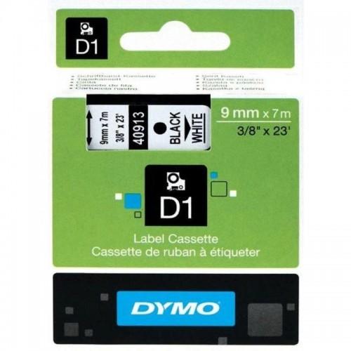 Картридж Dymo D1 с виниловой лентой, 9мм х 7м, пластик, черный на белой ленте S0720680