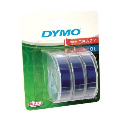 Лента Dymo для механических принтеров, 9мм х 3м, пластиковая, синяя, 3шт. в блистере S0847740