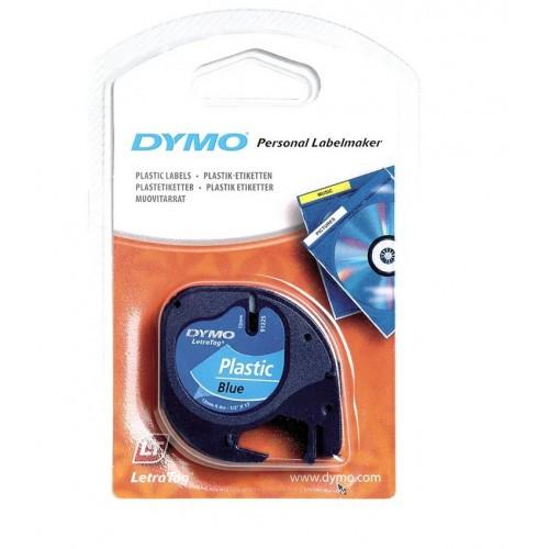 Лента Dymo для принтера LetraTag, 12мм х 4м, пластиковая, синяя, в блистере S0721650