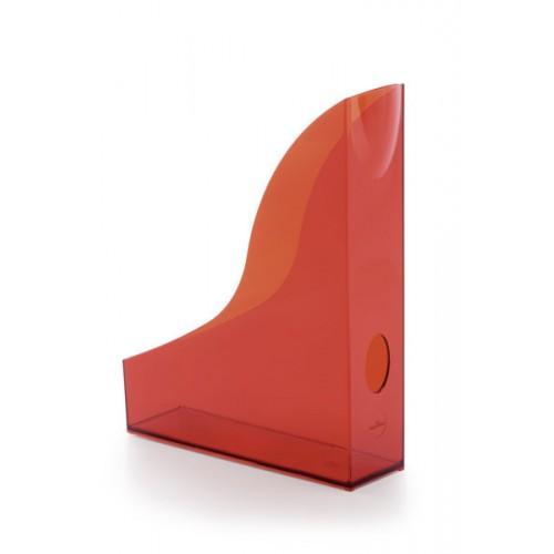 Лоток для бумаг вертикальный Durable Basic, красный прозрачный, арт.D1701711003