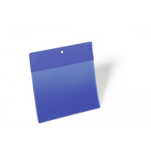 Карман для маркировки Durable, А5  горизонтальный, c магнитом, синий, арт.D1746-07