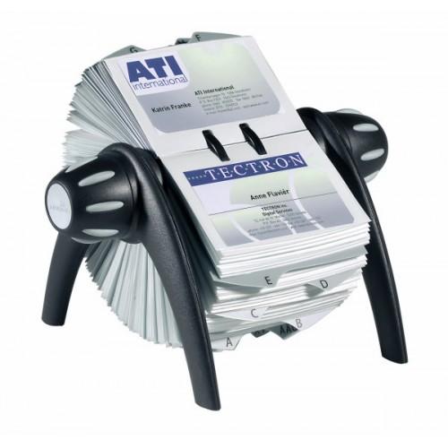 Визитница картотека вращающаяся Durable Visifix Flip, 200 карточек, черная, арт.D2417-01