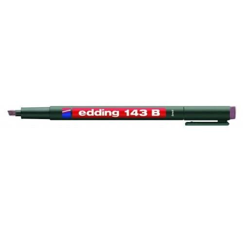 Маркер для проекторных пленок Edding (Эддинг) 143B, клиновидный наконечник, 1-3 мм, фиолетовый 008