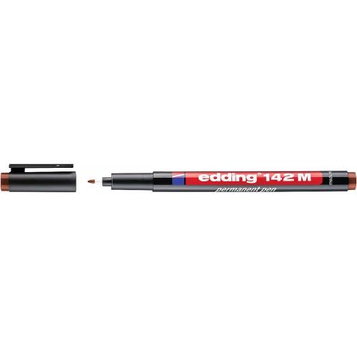 Маркер для проекторных пленок Edding (Эддинг) 142M, круглый наконечник, 1 мм, коричневый 007