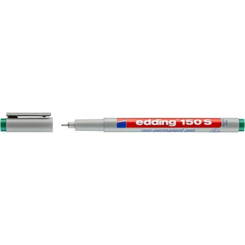 Маркер для проекторных пленок смываемый Edding (Эддинг) 150S, круглый наконечник, 0,3 мм, зеленый 004