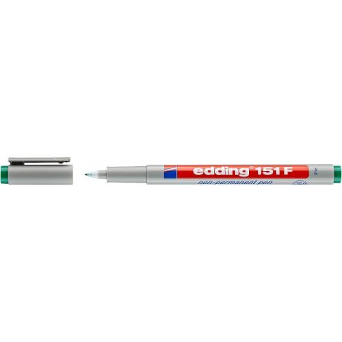 Маркер для проекторных пленок смываемый Edding (Эддинг) 151F, круглый наконечник, 0,6 мм, зеленый 004
