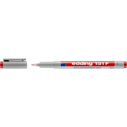 Маркер для проекторных пленок смываемый Edding (Эддинг) 151F, круглый наконечник, 0,6 мм, красный 002