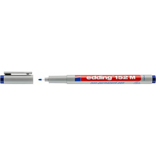 Маркер для проекторных пленок смываемый Edding (Эддинг) 152M, круглый наконечник, 1 мм, синий 003