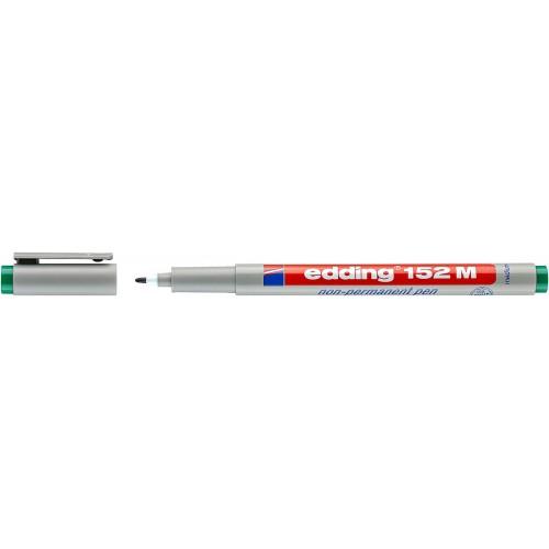 Маркер для проекторных пленок смываемый Edding (Эддинг) 152M, круглый наконечник, 1 мм, зеленый 004