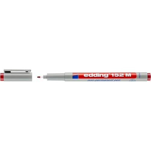 Маркер для проекторных пленок смываемый Edding (Эддинг) 152M, круглый наконечник, 1 мм, красный 002