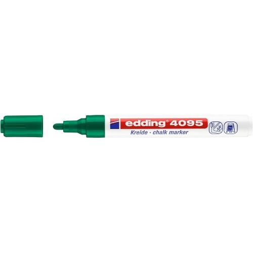 Маркер меловой для окон Edding (Эддинг) 4095, смываемый, круглый наконечник, 2-3 мм, зеленый 004