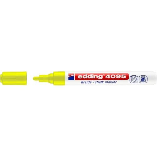 Маркер меловой для окон Edding (Эддинг) 4095, смываемый, круглый наконечник, 2-3 мм, желтый 005