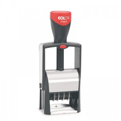Датер автоматический металлический Colop 2100/4 Bank, высота шрифта 4 мм