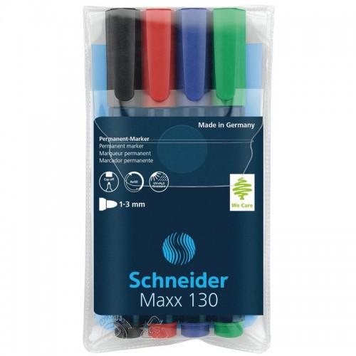 Набор маркеров перманентных Schneider Maxx 130, 4 цвета