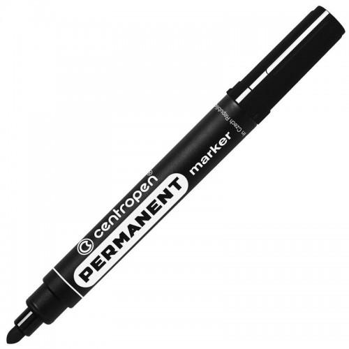 Маркер перманентный Centropen, 2,5 мм, чёрный '8566