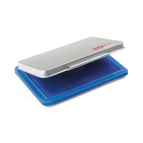 Подушка штемпельная настольная Colop Micro M1, 50х90 мм, в металлическом корпусе, синяя