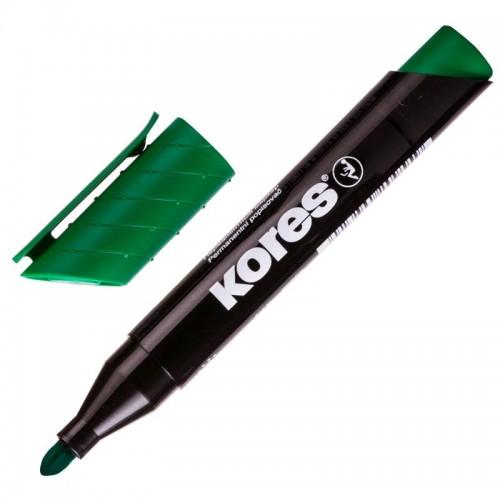 Маркер перманентный KORES зеленый 1,5-3мм круглый наконечник '20935