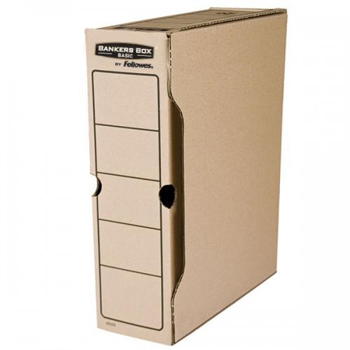 """Короб архивный переносной Fellowes (Феллоуз) Bankers Box """"Basic"""" 100x260x312 мм, гофрокартон FS-00102"""