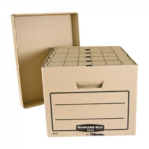 """Короб архивный Fellowes (Феллоуз) Bankers Box """"Basic"""" 335x445x270 мм, гофрокартон FS-00101"""