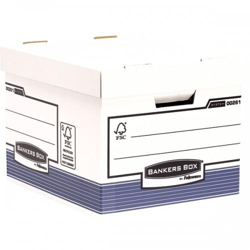 Короб архивный Fellowes (Феллоуз) R-Kive Prima Standard сборка FastFold 333x285x390 мм гофрированный картон FS-0026101